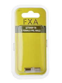 Штекер ТВ FXA, F female-PAL male, 1 шт