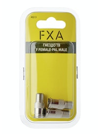 Гнездо ТВ FXA, F female-PAL male, 3 шт