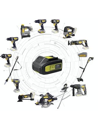 Borrskruvdragare FXA 18V Xclick Med Batteri