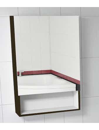 Шкаф зеркальный Miraggio (602 х 158 х 900 мм) черный