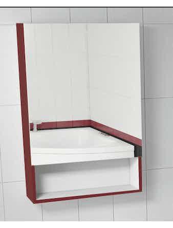 Шкаф зеркальный Miraggio(602 х 158 х 900 мм) красный