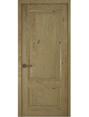 Дверное полотно глухое Рива Классика-1, дуб золотой, 600 х 2000 мм