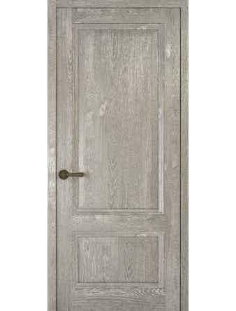 Дверное полотно глухое Рива Классика-1, дуб серый, 400 х 2000 мм