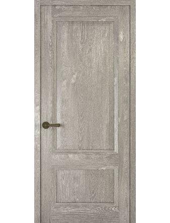 Дверное полотно глухое Рива Классика-1, дуб серый, 600 х 2000 мм