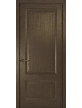 Дверное полотно глухое Рива Классика-1, дуб табачный, 600 х 2000 мм