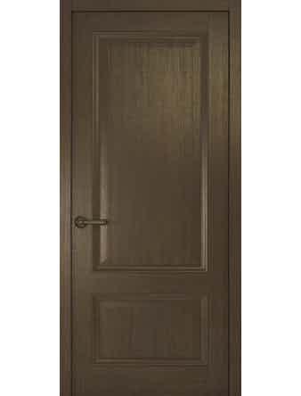 Дверное полотно глухое Рива Классика-1, дуб табачный, 700 х 2000 мм