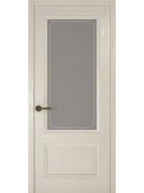 Дверное полотно со стеклом Рива Классика-1 Рамка, дуб белый, 400 х 2000 мм