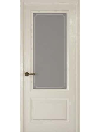 Дверное полотно со стеклом Рива Классика-1 Рамка, дуб белый, 700 х 2000 мм