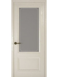 Дверное полотно со стеклом Рива Классика-1 Рамка, дуб белый, 900 х 2000 мм