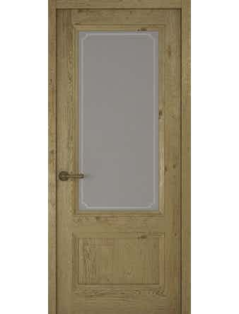 Дверное полотно со стеклом Рива Классика-1 Рамка, дуб золотой, 400 х 2000 мм