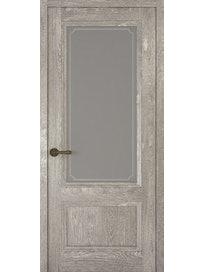 Дверное полотно со стеклом Рива Классика-1 Рамка, дуб серый, 400 х 2000 мм