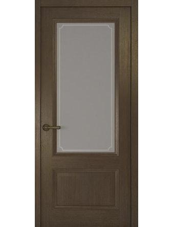 Дверное полотно со стеклом Рива Классика-1 Рамка, дуб табачный, 400 х 2000 мм