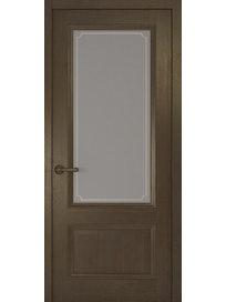 Дверное полотно со стеклом Рива Классика-1 Рамка, дуб табачный, 800 х 2000 мм