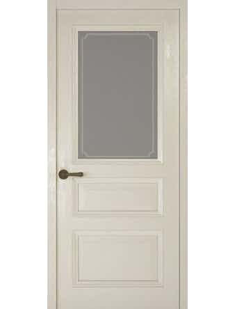 Дверное полотно со стеклом Рива Классика-2 Рамка, дуб белый, 400 х 2000 мм