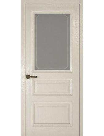 Дверное полотно со стеклом Рива Классика-2 Рамка, дуб белый, 600 х 2000 мм