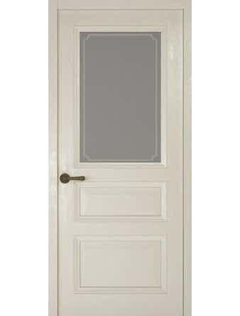 Дверное полотно со стеклом Рива Классика-2 Рамка, дуб белый, 900 х 2000 мм