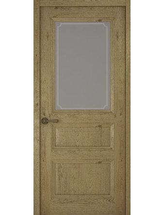 Дверное полотно со стеклом Рива Классика-2 Рамка, дуб золотой, 400 х 2000 мм