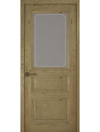 Дверное полотно со стеклом Рива Классика-2 Рамка, дуб золотой, 800 х 2000 мм
