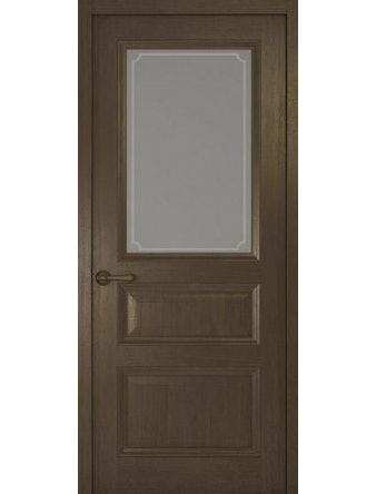 Дверное полотно со стеклом Рива Классика-2 Рамка, дуб табачный, 800 х 2000 мм