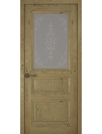 Дверное полотно со стеклом Рива Классика-2 Флер, дуб золотой, 800 х 2000 мм