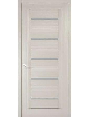 Дверное полотно с матовым стеклом Рива Модерно-1, дуб белый Аляска, 600 х 2000 мм