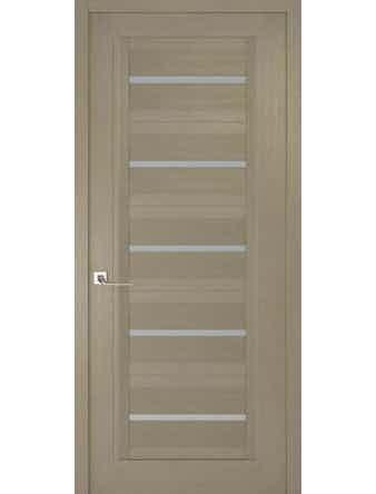 Дверное полотно с матовым стеклом Рива Модерно-1, дуб натуральный, 400 х 2000 мм