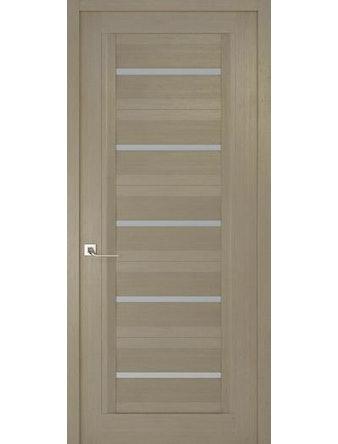 Дверное полотно с матовым стеклом Рива Модерно-1, дуб натуральный, 600 х 2000 мм