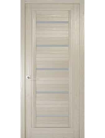 Дверное полотно с матовым стеклом Рива Модерно-1, дуб жемчужный, 600 х 2000 мм
