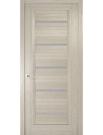 Дверное полотно с матовым стеклом Рива Модерно-1, дуб жемчужный, 800 х 2000 мм