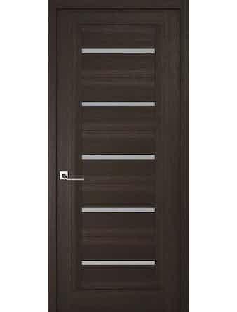 Дверное полотно с матовым стеклом Рива Модерно-1, венге, 400 х 2000 мм