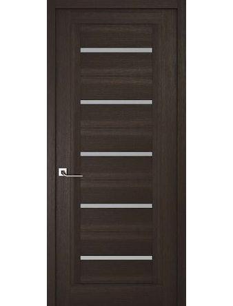 Дверное полотно с матовым стеклом Рива Модерно-1, венге, 600 х 2000 мм