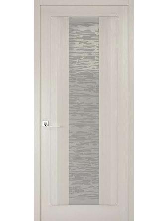 Дверное полотно со стеклом Эго Рива Модерно-2, дуб белый Аляска, 400 х 2000 мм