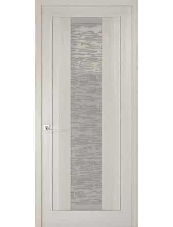 Дверное полотно со стеклом Эго Рива Модерно-2, дуб белый Аляска, 800 х 2000 мм