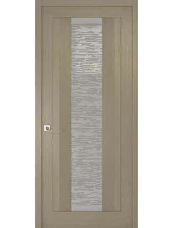 Дверное полотно со стеклом Эго Рива Модерно-2, дуб натуральный, 400 х 2000 мм