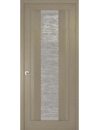 Дверное полотно со стеклом Эго Рива Модерно-2, дуб натуральный, 600 х 2000 мм