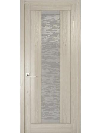 Дверное полотно со стеклом Эго Рива Модерно-2, дуб жемчужный, 400 х 2000 мм
