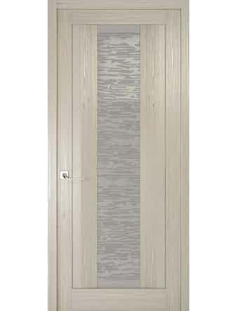 Дверное полотно со стеклом Эго Рива Модерно-2, дуб жемчужный, 600 х 2000 мм