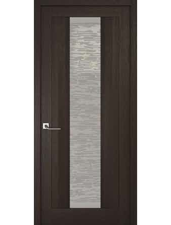 Дверное полотно со стеклом Эго Рива Модерно-2, венге, 400 х 2000 мм