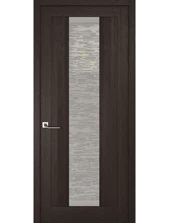 Дверное полотно со стеклом Эго Рива Модерно-2, венге, 600 х 2000 мм
