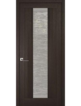 Дверное полотно со стеклом Эго Рива Модерно-2, венге, 900 х 2000 мм