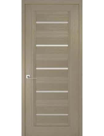 Дверное полотно с белым стеклом Рива Модерно-1, дуб натуральный, 400 х 2000 мм
