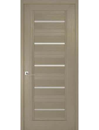 Дверное полотно с белым стеклом Рива Модерно-1, дуб натуральный, 600 х 2000 мм