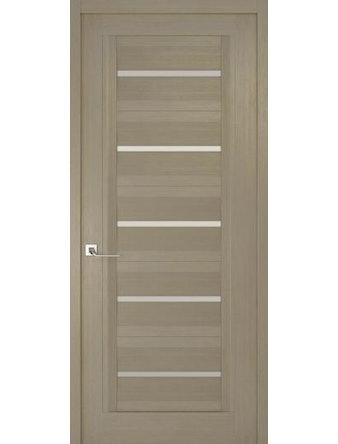 Дверное полотно с белым стеклом Рива Модерно-1, дуб натуральный, 800 х 2000 мм