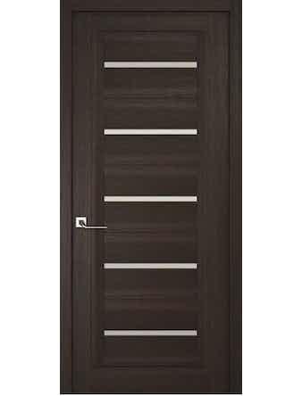 Дверное полотно с белым стеклом Рива Модерно-1, венге, 400 х 2000 мм