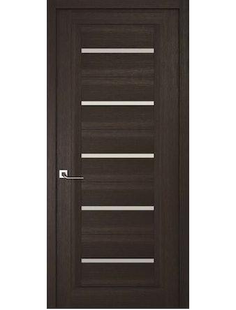 Дверное полотно с белым стеклом Рива Модерно-1, венге, 600 х 2000 мм
