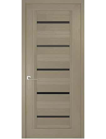 Дверное полотно с черным стеклом Рива Модерно-1, дуб натуральный, 400 х 2000 мм