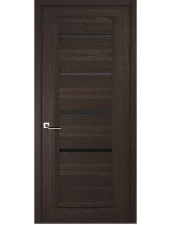 Дверное полотно с черным стеклом Рива Модерно-1, венге, 600 х 2000 мм