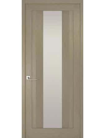 Дверное полотно с белым стеклом Рива Модерно-2, дуб натуральный, 400 х 2000 мм