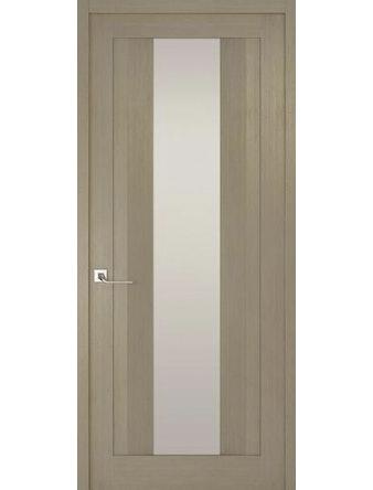 Дверное полотно с белым стеклом Рива Модерно-2, дуб натуральный, 600 х 2000 мм