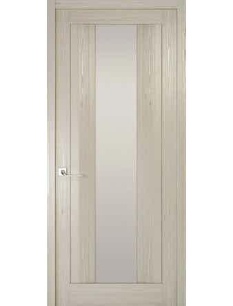 Дверное полотно с белым стеклом Рива Модерно-2, дуб жемчужный, 400 х 2000 мм